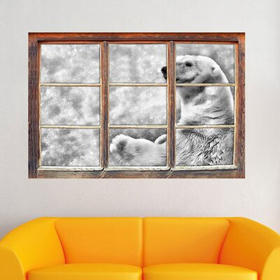 Standing Polar Bear Wall Sticker