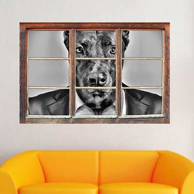 Manager Dog with Suit Wall Sticker