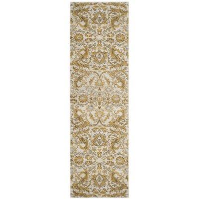 Sagebrush Ivory/Gold Area Rug Rug Size: Runner 22 x 9