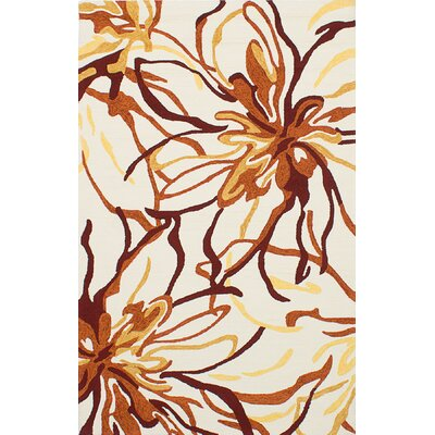 Wallenstein Cream/Dark Orange Indoor/Outdoor Area Rug Rug Size: Rectangle 5 x 76