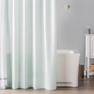 Waterproof Shower Curtain Liner Color: Seafoam Green
