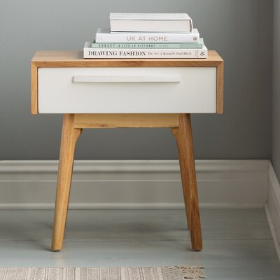 Maximilian End Table Finish: White