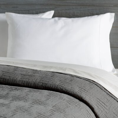 Baja Matelasse Coverlet Size: Twin, Color: White