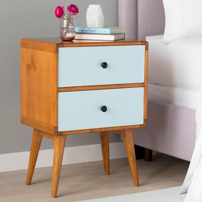 Tristan End Table Color: Aqua