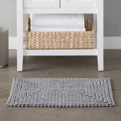 Kassidy Chenille Bath Rug Color: Gray