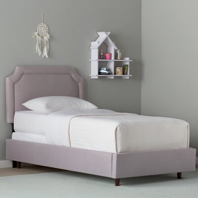 Grant Bed Size: Twin, Fabric: Linen Smokey Quartz