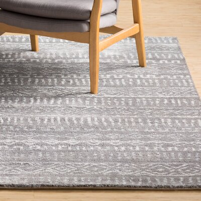 Hayden Gray Area Rug Rug Size: Rectangle 2 x 3