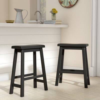 Sharman Counter Height 24 Bar Stool Finish: Vulcan Black