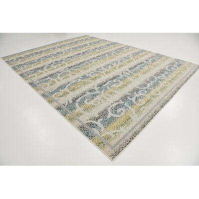 Akin Cream Indoor/Outdoor Area Rug Rug Size: 9 x 12