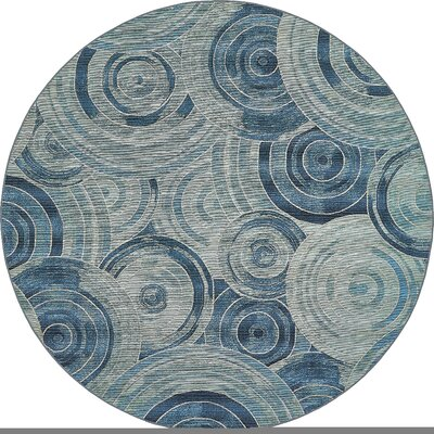 Ivy Light Blue Indoor/ Outdoor Area Rug Rug Size: Round 8