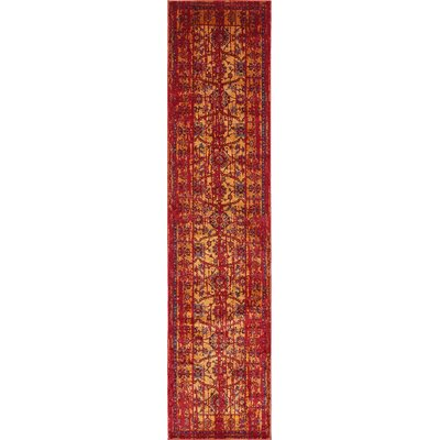 Figueroa Gold/Red Area Rug Rug Size: Runner 3 x 13