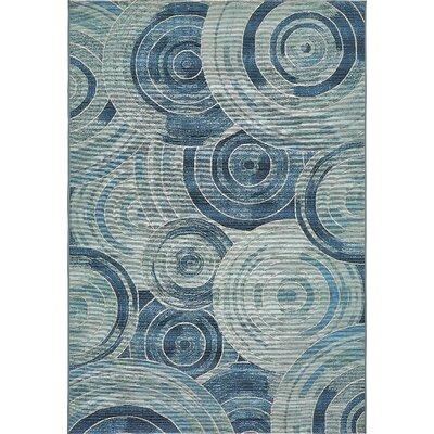 Ivy Light Blue Indoor/ Outdoor Area Rug Rug Size: Rectangle 53 x 8