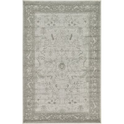 Shailene Light Gray Area Rug Rug Size: Rectangle 5 x 8
