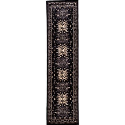 Valley Black Area Rug Rug Size: Runner 27 x 10