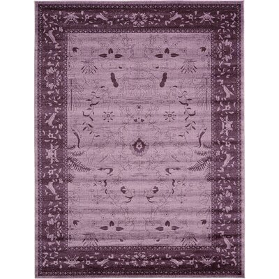 Chappel Purple Area Rug Rug Size: 9 x 12