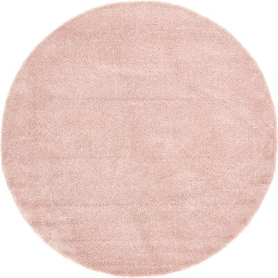 Sydnee Pink Area Rug Rug Size: Round 8
