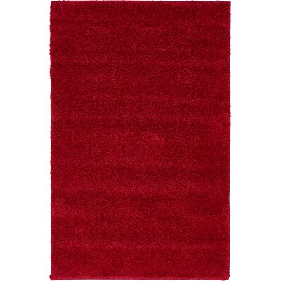 Sydnee Red Area Rug Rug Size: 33 x 53