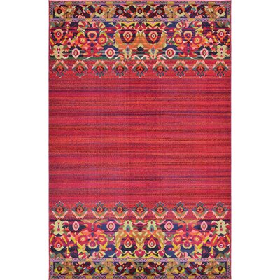 Rialto Red Area Rug Rug Size: 106 x 165