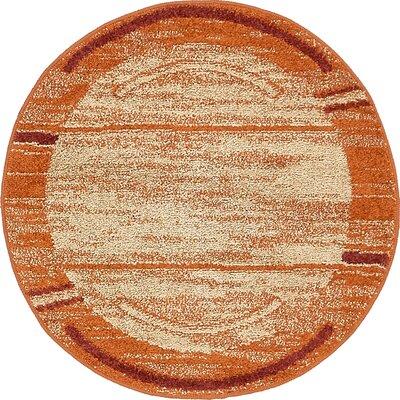 Bryan Terracotta Tibetan Area Rug Rug Size: Round 33