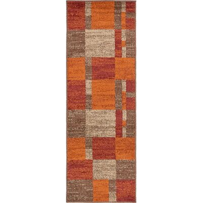 Christie Red/Orange Area Rug Rug Size: Runner 2 x 6