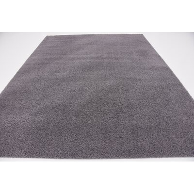 Virgil Solid Shag Dark Gray Area Rug Rug Size: 8' x 10'