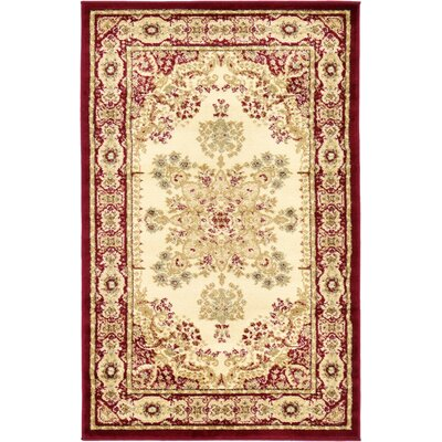 Anzac Cream Area Rug Rug Size: Rectangle 33 x 53