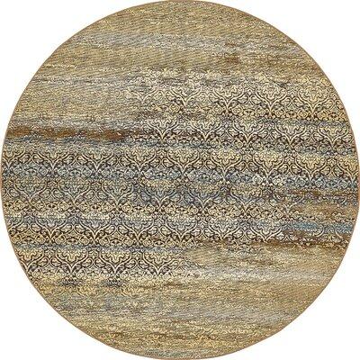 Jamie Beige Abstract Indoor/Outdoor Area Rug Rug Size: Round 8