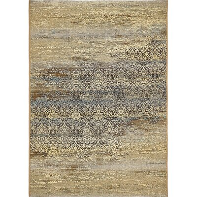 Jamie Beige Abstract Indoor/Outdoor Area Rug Rug Size: Rectangle 53 x 8