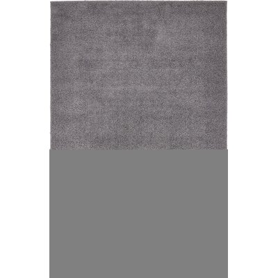 Virgil Solid Shag Dark Gray Area Rug Rug Size: 5 x 8