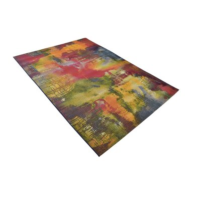 Ronda Green/Blue Indoor/Outdoor Area Rug Rug Size: Rectangle 53 x 8
