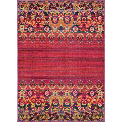 Rialto Red Area Rug Rug Size: Rectangle 7 x 10