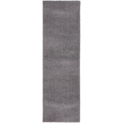 Virgil Solid Shag Dark Gray Area Rug Rug Size: Runner 2 x 67