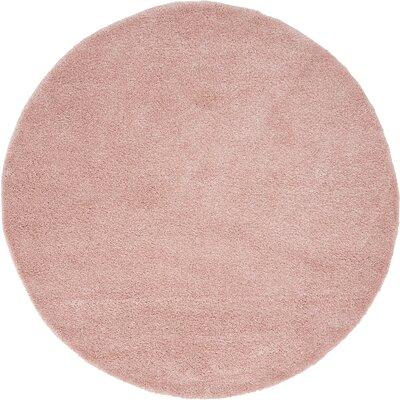 Sydnee Pink Area Rug Rug Size: Round 6