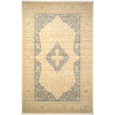 Jamar Cream Oriental Area Rug Rug Size: Rectangle 106 x 165