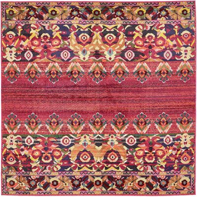 Rialto Red Area Rug Rug Size: 8 x 8