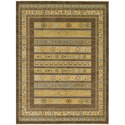 Foret Noire Brown Area Rug Rug Size: 122 x 16