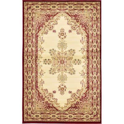 Anzac Cream Area Rug Rug Size: Rectangle 5 x 8