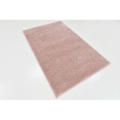 Sydnee Pink Area Rug Rug Size: 33 x 53