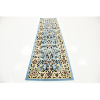 Essehoul Light Blue Oriental Area Rug Rug Size: Runner 3 x 165