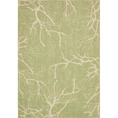 Green Outdoor Area Rug Rug Size: 7 x 10