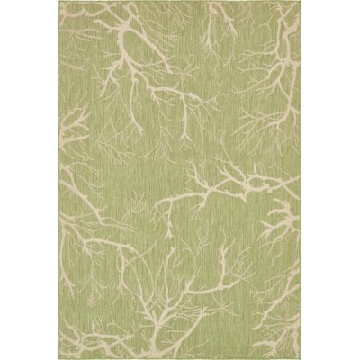 Green Outdoor Area Rug Rug Size: 6 x 9