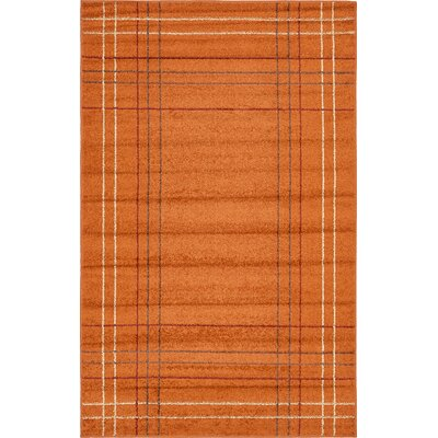 Christie Terracotta Area Rug Rug Size: 5 x 8
