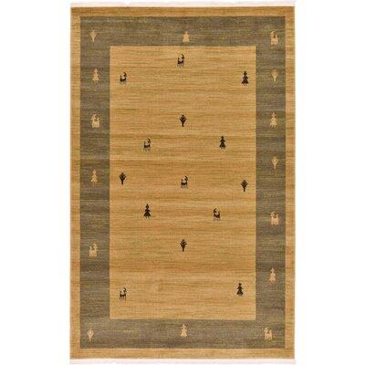 Jan Traditional Tan Area Rug Rug Size: Rectangle 5 x 8