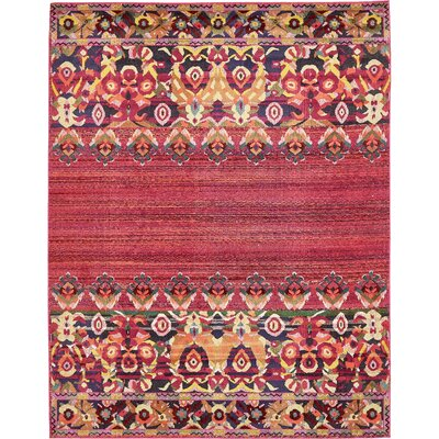 Rialto Red Area Rug Rug Size: 8 x 10