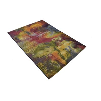 Ronda Green/Blue Indoor/Outdoor Area Rug Rug Size: Rectangle 4 x 6