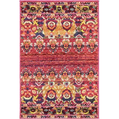 Rialto Red Area Rug Rug Size: 22 x 3