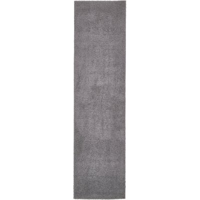 Virgil Solid Shag Dark Gray Area Rug Rug Size: Runner 27 x 10