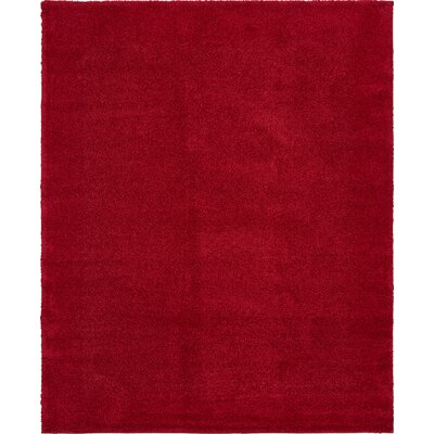 Sydnee Red Area Rug Rug Size: Rectangle 10 x 13
