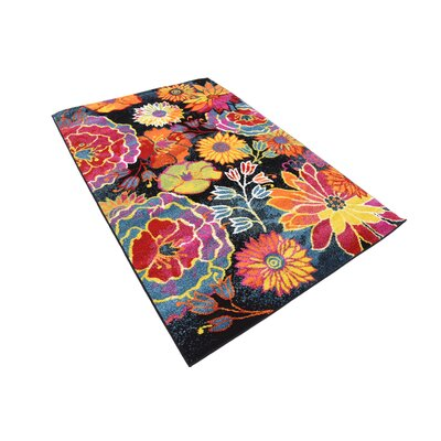 Clarke Black Area Rug Rug Size: Rectangle 4 x 6