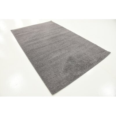 Virgil Solid Shag Dark Gray Area Rug Rug Size: Rectangle 5 x 8